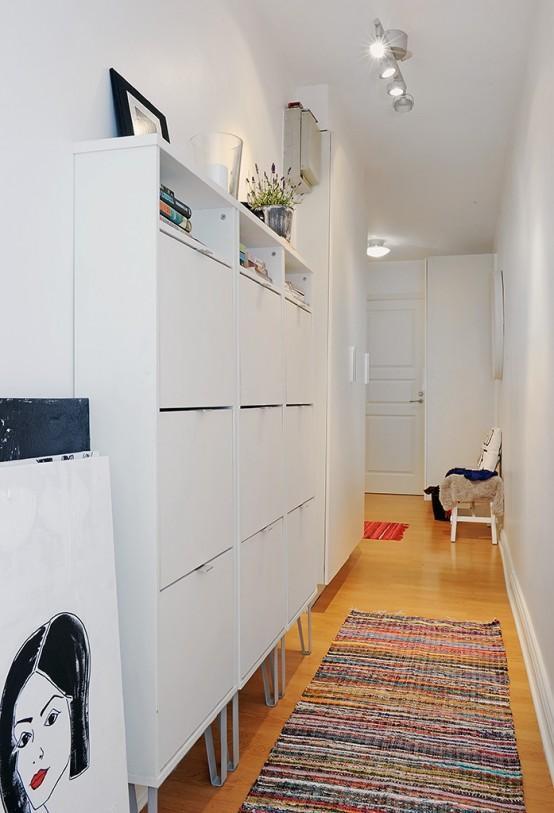 белый узкий красивый коридор