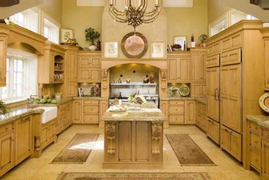 пол на кухне кантри