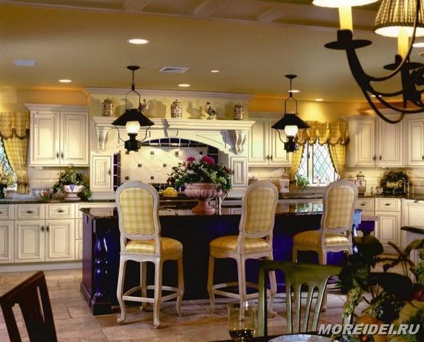 шторки и занавески для кухни кантри