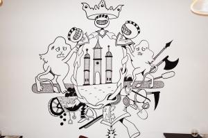 графити в стиле лофт