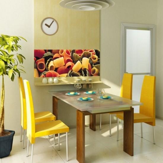 акцент на мебель на кухне