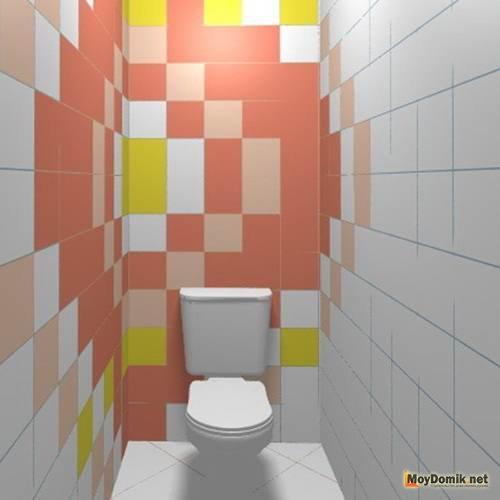 контрастная плитка в туалете 3