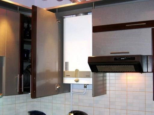 газовая колонка вмонтированная в шкаф 2. ремонт кухни с газовой колонкой
