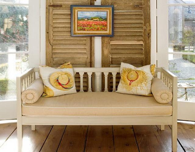 диван в стиле прованс в коридор