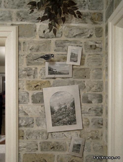 стены под крипич в стиле прованс