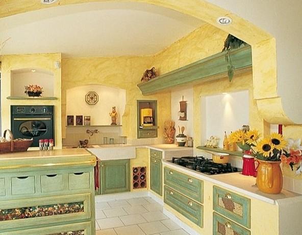 стены кухни в стиле прованс 2