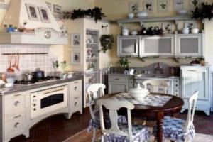 стены кухни в стиле прованс 3