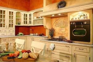 плита на кухне прованс 2