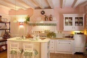 потолок кухни в стиле прованс 2