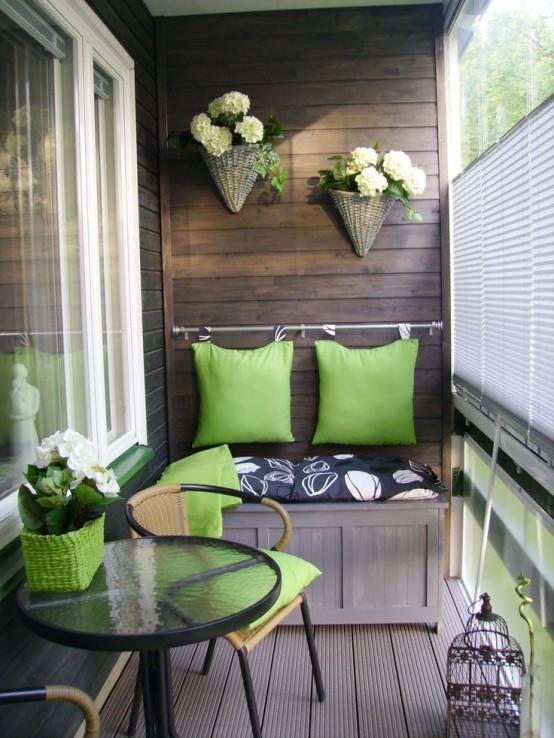 скамья для хранения на балконе 2