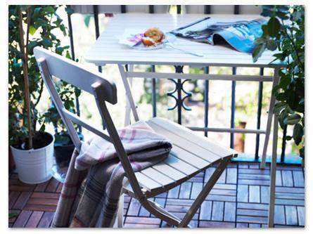 стильная садовая мебель на балконе - лайфхаки для балкона