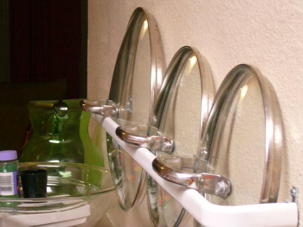 Балка для хранения посуды. лайфхаки для кухни