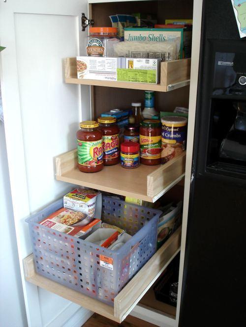 выдвижные ящики на кухне. лайфхаки для кухни