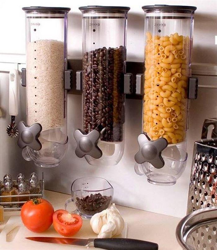 настенный продовольственный диспенсер. лайфхаки для кухни
