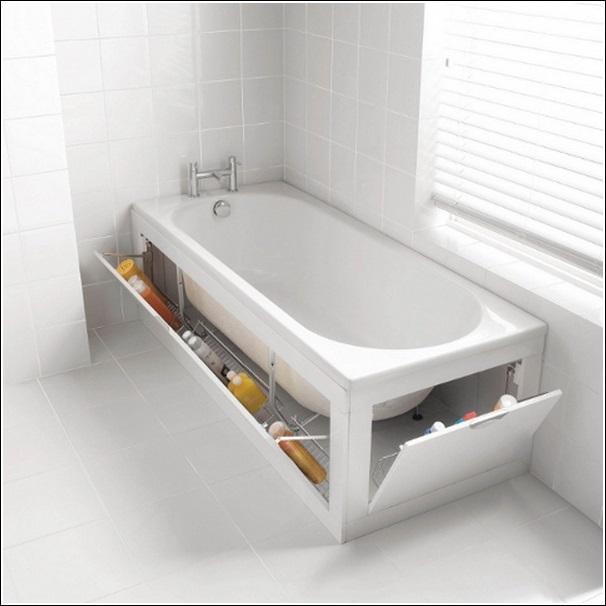 использование пространства вокруг ванной