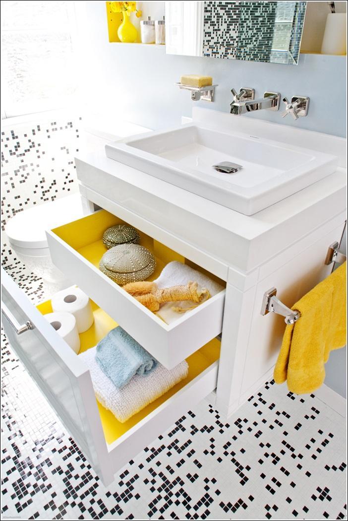 шкафы с выдвижными ящиками для ванной 2