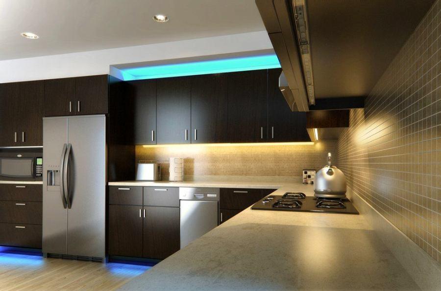 Освещение на кухне своими руками