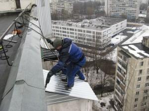 крыша балкона из металла