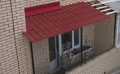металлочерепица на балконе