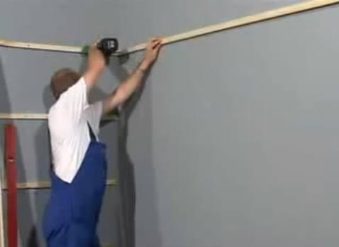 крепление каркаса на стену 2