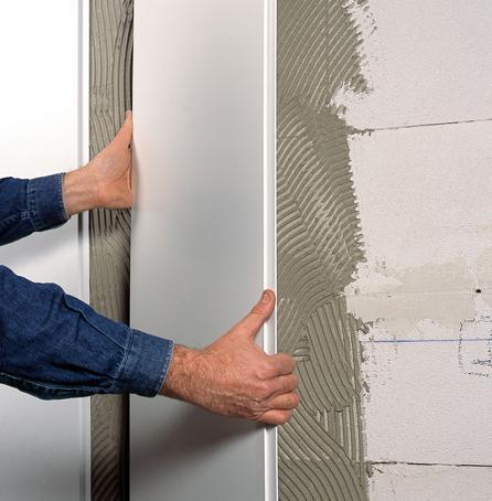крепление панелей на ровные стены