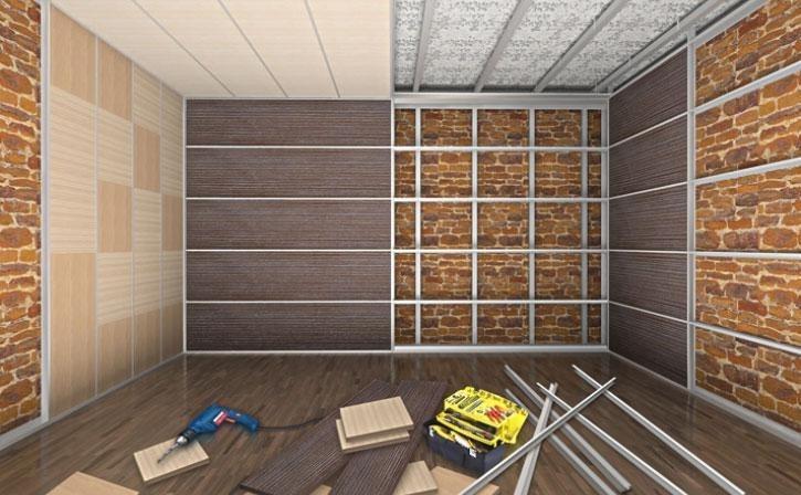 крепление стеновых панелей на каркас