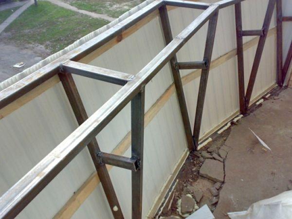 холодный балкон с выносом