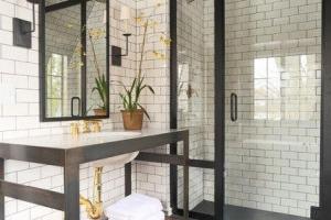 плитка в ванной лофт